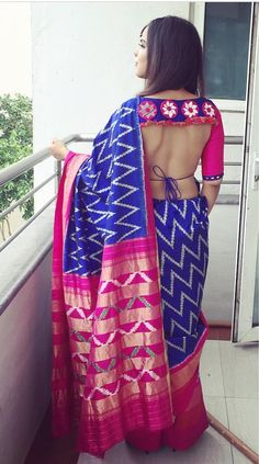 It's high time you ditch the usual typical blouse designs and try something unique and fancy this time. Make a statement with these latest saree blouse designs. Blouse Back Neck Designs, Bridal Blouse Designs, Saree Blouse Designs, Blouse Styles, Blouse Patterns, Indian Wedding Fashion, Indian Fashion, Indian Attire, Indian Ethnic Wear