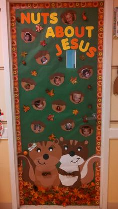 fall door decorations classroom Door for a christian preschool 2 yr old clsss.