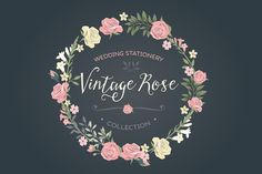 Check out Vintage Rose wedding set by Glanz Graphics on Creative Market