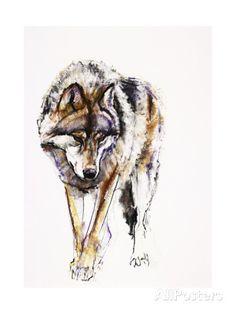 European Wolf Giclee Print