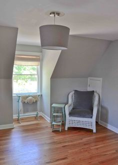 Little Inspirations: Gray Paint Colors. Benjamin Moore Stonington Gray and wickham gray Bedroom Paint Colors, Bedroom Color Schemes, Gray Bedroom, Paint Colors For Home, Room Colors, Master Bedroom, Grey Colors, Master Bath, Living Room Grey