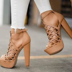 47 High Heel Shoes For Work - Shoes - Damenschuhe Lace Up Heels, Sexy Heels, Pumps Heels, Stiletto Heels, Sandal Heels, Heeled Sandals, Gladiator Sandals, Nude Sandals, High Sandals