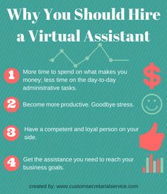Why You Should Hire a Virtual Assistant. Home Based Business, Business Tips, Virtual Receptionist, Team Motivation, Small Business Organization, Virtual Assistant Services, Small Business Marketing, Business Entrepreneur, Work From Home Jobs