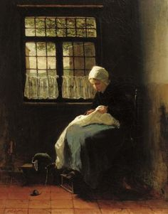The seamstress, Jozef Israëls. Dutch (1824 - 1911)