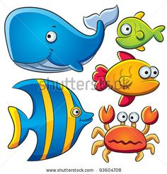 free cute clip art cute cartoon fishes collection stock vector rh pinterest com clipart connection clip art collections for sale