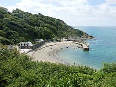 Mike's Cornwall: Polkerris, Cornwall the Fortified Harbour with an ... Cornwall Beaches, Old Wall, Terrace, This Is Us, Coast, Old Things, England, River, Outdoor