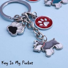 MIRRORED ACRYLIC GREYHOUND KEYCHAIN DOG KEYRING KEY CHAIN CHAINS Made in USA
