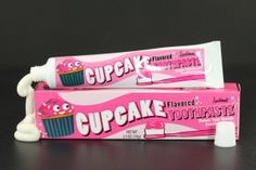 Cupcake Flavored Toothpaste - #quirky #funny #sweet #forher
