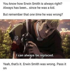 Erwin gives me too many feels this whole fucking show give me too many feels