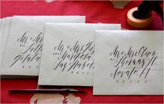 Lovely envelopes by Flourish & Whim.