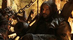 "(Gif of Kili winking)   ""Kili is the cheeky, the more audacious kind of guy.""    Aidan Turner"