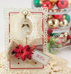 Christmas Card Making Ideas by Becca Feeken using Spellbinders Resplendent Rectangles