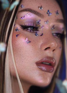 Indie Makeup, Makeup Inspo, Makeup Inspiration, Cute Makeup, Pretty Makeup, Makeup Looks, Body Makeup, Beauty Makeup, Hair Makeup
