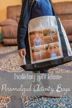 Great Christmas Gift Idea: Personalized Activity Bags for kids #sk #ad