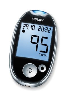 Beurer GL 44 mg/dl Blutzuckermessgerät, Schwarz Diabetes, Blood Glucose Levels, Blood Sugar, Digital Alarm Clock, Cooking Timer, Monitor, Health, Ebay, Black