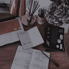 aesthetic, study, and laptop image Brown Aesthetic, Aesthetic Themes, Aesthetic Photo, Aesthetic Pictures, Kpop Aesthetic, White Tumblr, Color Composition, Study Inspiration, Study Motivation