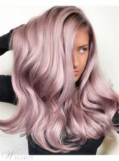 Best hair color pastel grey rose gold ideas - All For Hair Color Balayage Hair Color Pink, Cool Hair Color, Pink Hair, Metallic Hair Color, Cute Hair Colors, Blonde Color, Hair Color Balayage, Ombre Hair, Wavy Hair