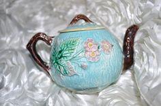 Antique Majolica Tea Pot fabulous antique by souhernsistersjewels,