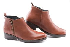 Garos Ankle Boots - Whiskey Brown