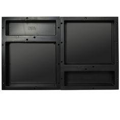 Redi Niche Tile Redi Black Shower Wall Shelf Rnqh1620du-20D