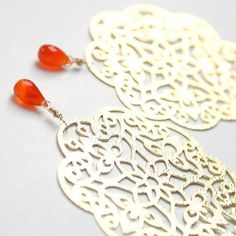 filigree + orange carnelian