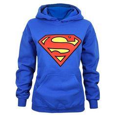 Stylish Hooded Long Sleeve Superman Shield Logo Women's Superhero... ($15) ❤ liked on Polyvore featuring tops, hoodies, superman hooded sweatshirt, hooded sweatshirt, blue hoodies, superman hoodie and blue top