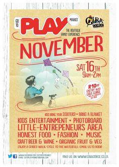 November us for a fun day out! Play Market, Music Crafts, Fun Days Out, Organic Fruit, Craft Beer, Food Styling, Food To Make, November, Join