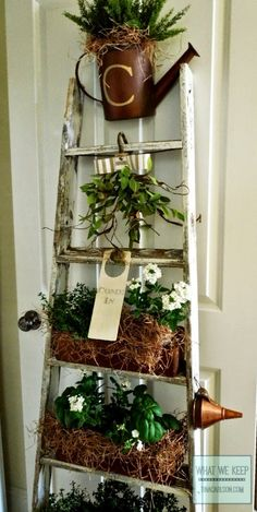 Garden Tools Indoor Decor-Great potting bench in this link!