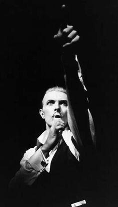 David Bowie / black & white portrait. High contrast.