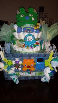 Monster Diaper Cake