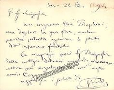 Verdi, Giuseppe - Handwritten and Signed Note 1894 | Tamino Autographs, Musical, Performance & Theatre Memorabilia & Gifts