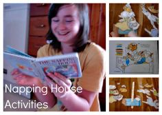 colouring, sequencing, napping house, audrey wood, don wood Hands On Activities, Literacy Activities, The Napping House, Homeschool Books, Author Studies, Toddler Fun, Book Themes, Children's Literature, Fun At Work