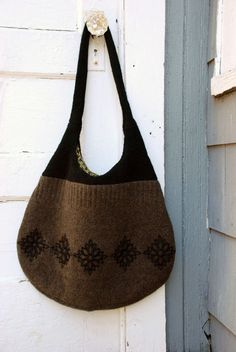 Here are some tips on felting an old sweater, embroidering on felted wool, and inserting a zippered pocket into a lining. Put them all together to make your own felted wool tote or bag!
