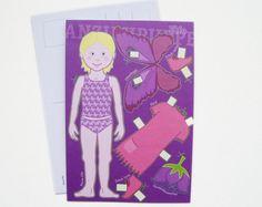 Basteln - Postkarte -ELFE- - ein Designerstück von Fische-und-Schafe bei DaWanda