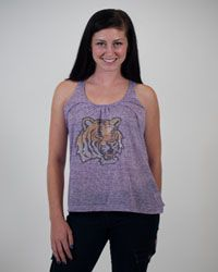 """LSU Football women's fashion - Campus Couture """"Kendra"""" tank ABSOLUTE FAVORITE! $34.95"""