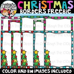 Christmas Borders Clipart Freebie the Classroom Clipart} Free Clipart For Teachers, Teachers Pay Teachers Freebies, Classroom Clipart, Classroom Resources, Too Cool For School, School Stuff, Christmas Border, Document, Word Families