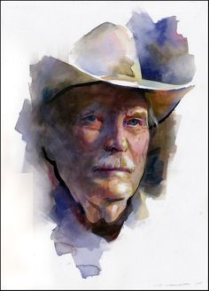 Stan Miller Watercolor Portrait