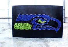 My next DIY project....Seattle Seahawks String Art -