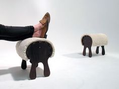 Jenny Keate | Stwool Foot Stool | A sheep for your feet