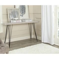 Safavieh-Home-Collection-Wolcott-Mid-Century-Modern-Taupe-and-Black-Console-Table