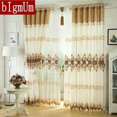 Luxury Window Curtain For Living Room/Bedrooms /Hotel  White/ Brown/ Golden/ Purple Home Furnishing/Treatment FreeShipping #Affiliate