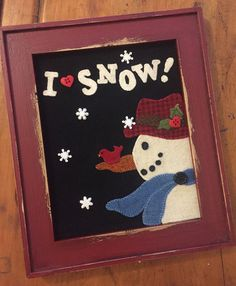 I Heart Snow wool appliqué kit and pattern