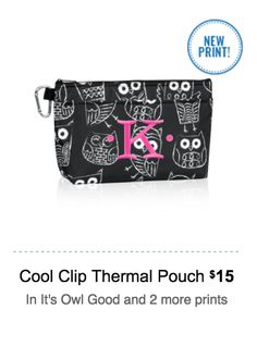 Thirty One  cool clip thermal pouch www.jennpennbags.com
