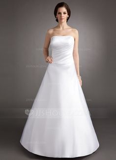 Quinceanera Dresses - $122.99 - A-Line/Princess Strapless Floor-Length Satin Quinceanera Dress With Ruffle (021002838) http://jjshouse.com/A-Line-Princess-Strapless-Floor-Length-Satin-Quinceanera-Dress-With-Ruffle-021002838-g2838