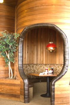 Loved getting the alcoves in restaurants.