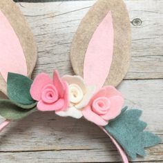 Bunny Ears Bunny Headband Woodland Bunny by VivibellesBows