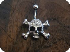Skull Belly Button Ring