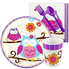 Owl Blossom Party Supplies - Snack Party Pack * Find out more about the great product at the image link.