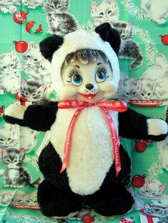 Vintage Rushton Panda Teddy Bear