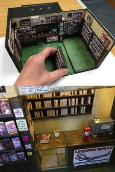 FX designer Andrew Glazebook created a miniature because he misses the so much Blockbuster Movies, This Man, Create, Art, 1990s, Miniatures, Craft Art, Kunst, Gcse Art